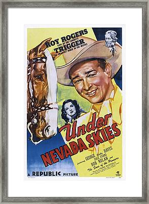 Under Nevada Skies, Us Poster Art Framed Print by Everett