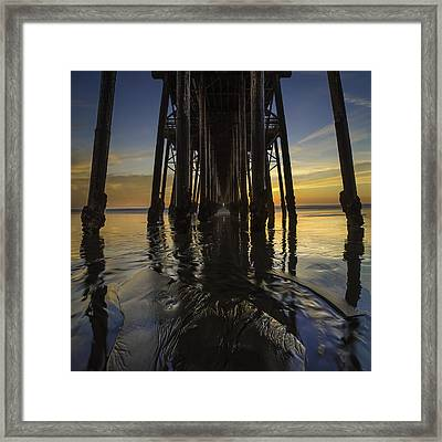 Under The Oceanside Pier 2 Framed Print