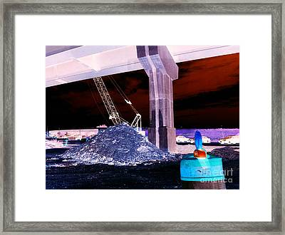 Under Pass Inverted Framed Print by Jamie Lynn