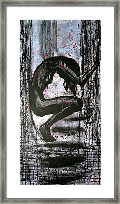 Framed Print featuring the painting Under Pressure by Jarmo Korhonen aka Jarko