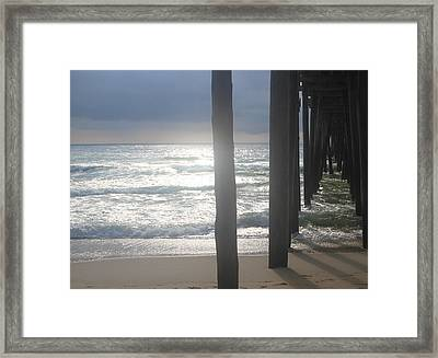 Under Rodanthe Pier 2 Framed Print by Cathy Lindsey