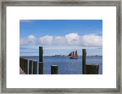 Framed Print featuring the photograph Under Sail by Gregg Southard