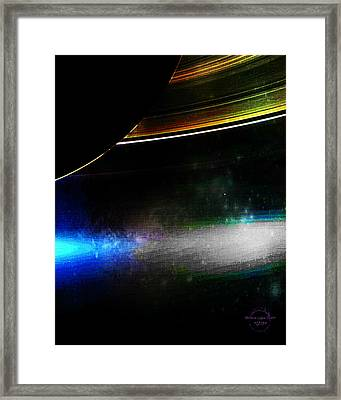 Under Saturn's Rings Framed Print by Absinthe Art By Michelle LeAnn Scott
