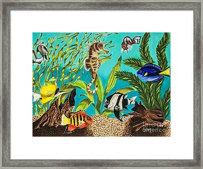 Under Sea Paradise Framed Print by Dawn Siegler