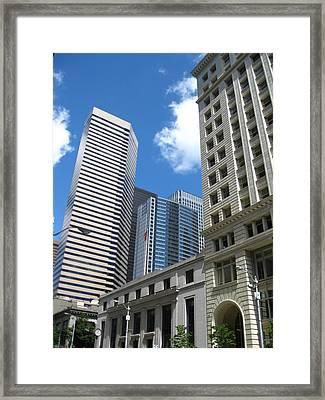 Under Seattle Blue Framed Print by David Trotter