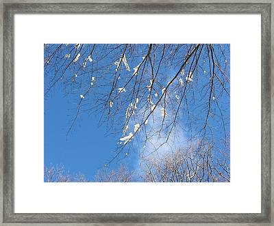 Framed Print featuring the digital art Under Snowy Branches 1 by Dennis Lundell