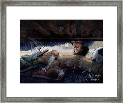 Under The Bed Framed Print by Isabella Kung