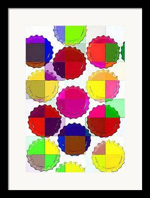 Bottlecap Digital Art Framed Prints