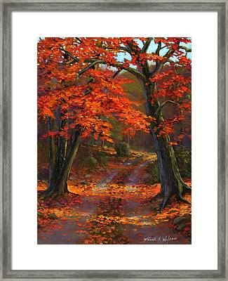 Under The Blazing Canopy Framed Print by Frank Wilson