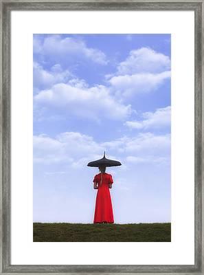 Under The Blue Sky Framed Print