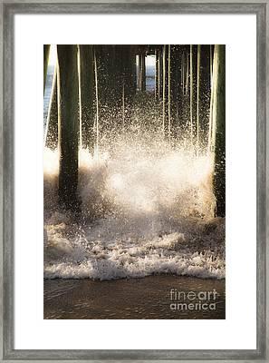 Under The Board Walk II Framed Print by Sue OConnor