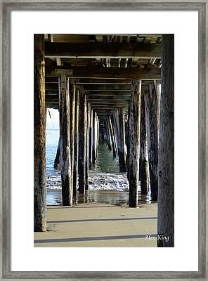 Under The Boardwalk Framed Print by Alex King