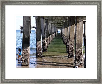Under The Boardwalk Framed Print by Ed Weidman