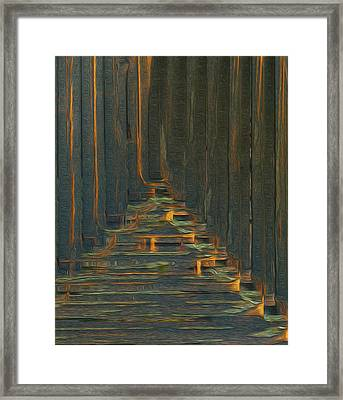 Under The Boardwalk Framed Print by Jack Zulli
