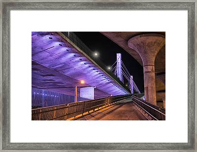 Under The Bridge Framed Print by Alejandro Tejada