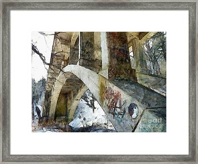 Under The Bridge  Framed Print by Janine Riley