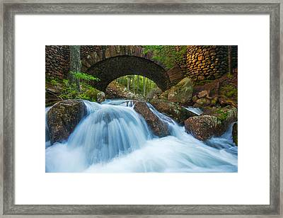 Under The Bridge Framed Print by Joseph Rossbach