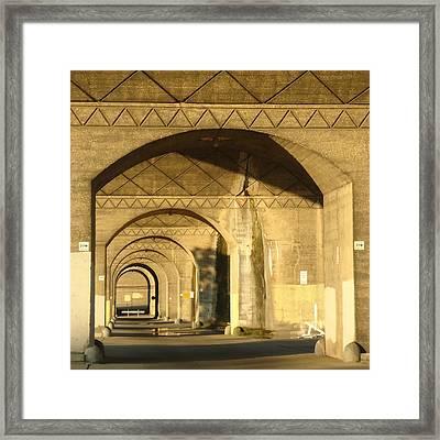 Under The Bridge Framed Print by Joseph Skompski