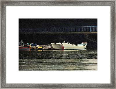 Framed Print featuring the photograph Under The Bridge by Laura Ragland