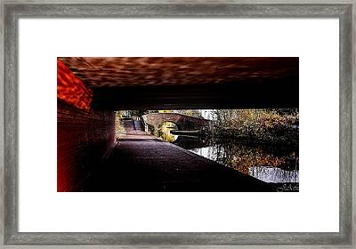 Under The Bridge Framed Print by Lina Jordaan