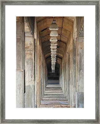 Under The Bridge Framed Print by Pamela Schreckengost