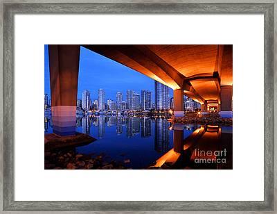 Under The Bridge Framed Print