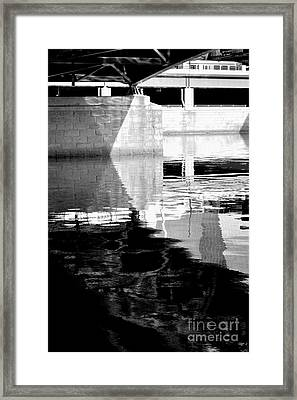 under the bridge - the X Framed Print by Bener Kavukcuoglu