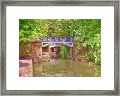 Framed Print featuring the photograph Under The Bridges by Paul Gulliver