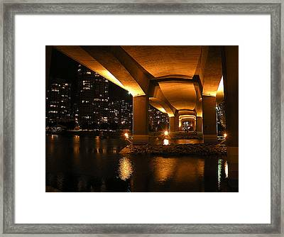 Under The Cambie Street Bridge Framed Print