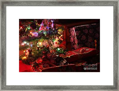 Under The Christmas Tree Framed Print