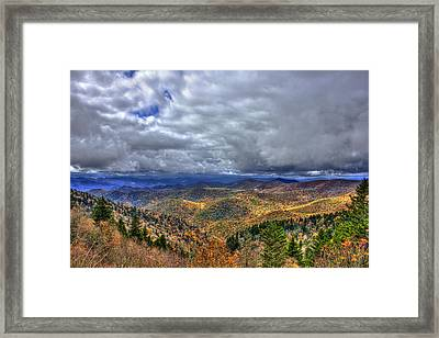 Under The Clouds Blue Ridge Parkway Great Smokey Mountains North Carolina Framed Print by Reid Callaway
