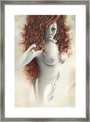 Framed Print featuring the painting Under The Cover by Anna Ewa Miarczynska