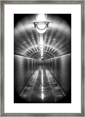 Under The Dam Framed Print