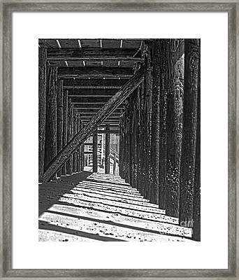 Under The Deck Framed Print