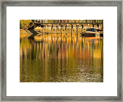 Under The Dock Framed Print