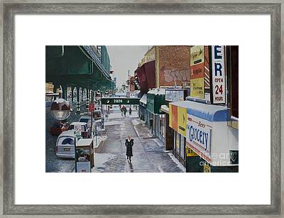 Under The El 86th Street Brooklyn Framed Print by Anthony Butera