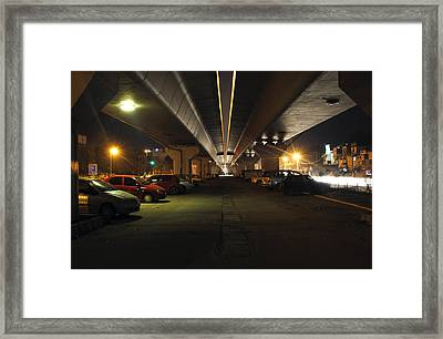 Under The Flyover  Framed Print by Sumit Mehndiratta