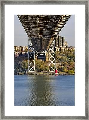 Under The George Washington Bridge II Framed Print by Susan Candelario