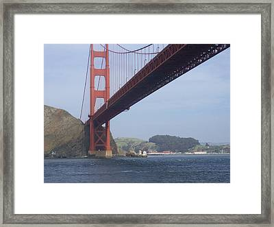 Under The Golden Gate - San Francisco Golden Gate Bridge 2006 - Scenic Photography - Ai P. Nilson Framed Print