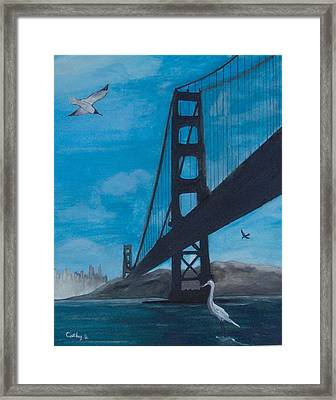 Under The Golden Gate Bridge Framed Print by Catherine Swerediuk