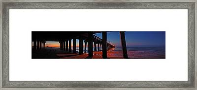 Under The Gulf State Pier  Framed Print by Michael Thomas