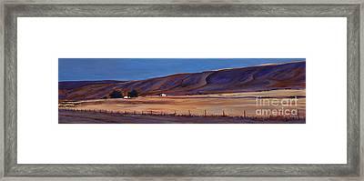 Under The Hills  1 Framed Print by Betsee  Talavera