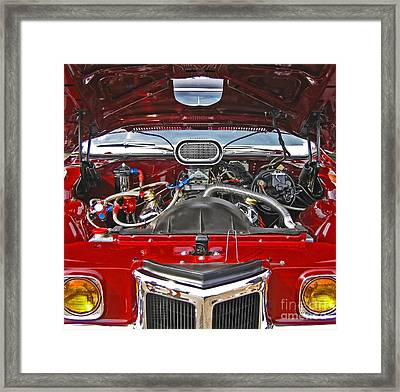 Under The Hood Framed Print by Ann Horn