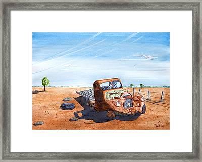 Under The Hot Australian Sun Framed Print
