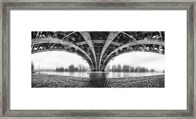 Under The Iron Bridge Framed Print