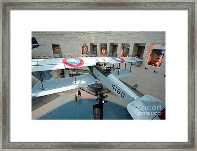 Under The Jenny At The Marine Corps Museum Framed Print by William Kuta
