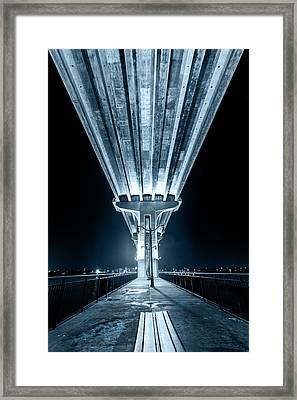Under The Jensen Beach Causeway Framed Print