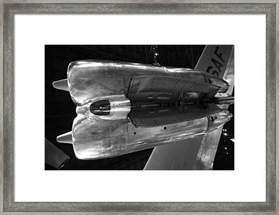 Under The Jet Engine Framed Print by Dan Sproul