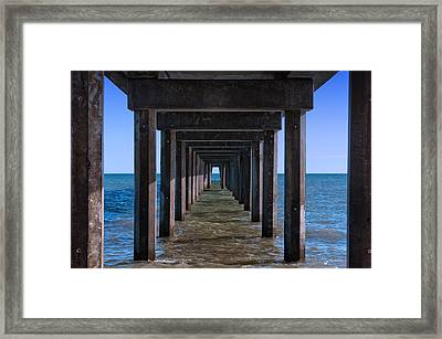 Under The Jetty Framed Print