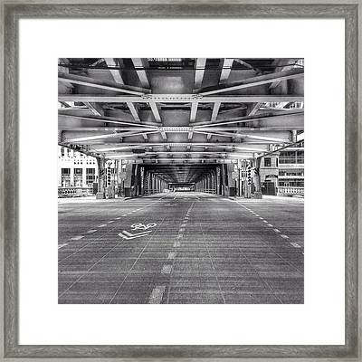 Chicago Wells Street Bridge Photo Framed Print by Paul Velgos
